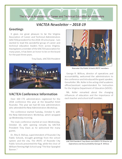 VACTEA Newsletter